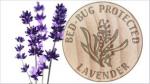100% přírodní levandulový olej ipregnovaný do nosné části roštu.
