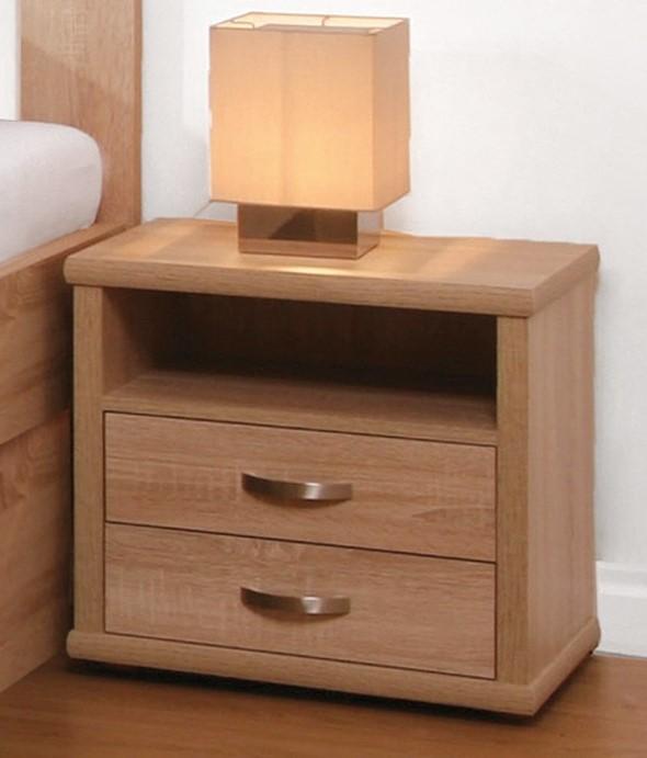 BMB Noční stolek Dvouzásuvkový L25