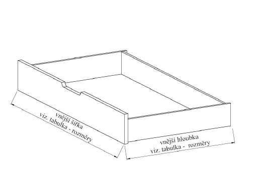 Zásuvka půlená boční L35 BMB úložný prostor 1/2