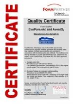 Certifikát Materasso.