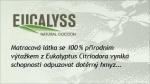 Potah Eucalyss prošitý 1,5cm viscoelastickou pěnou - natural cocoon.