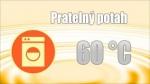 Potah je snímatelný, dělitelný na dvě části a pratelný do 60 °C.