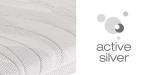 Potah Active Silver snímatelný dělitelný na 2 části a pratelný do 60°C.