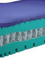 Horní deska je tvořena kombinací HR studené pěny Grafo® a paměťovou pěnou MindFoam®. Jádro je tvořeno taštičkovými pružinami o průměru 2mm, které jsou nezávisle uloženy v netkané textílii.