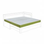 Rozložené matrace - matracová látka New Jersey.