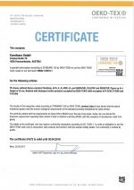Certifikát OEKO+TEX netoxický materiál.