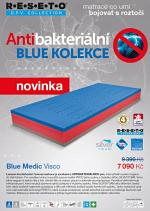 Matrace Blue Medic Visco D.P.V.- Řešeto. Luxusní dvojtuhostní 7-zónová matrace je vyrobena z antibakteriálních pěn, které přinášejí vysokou hygienu do Vaší ložnice.