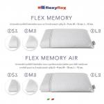 Velikosti polštářu FizioAir Memory FlexyFlex Italy.