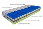 Matrace Tore Mabo 1+1. Vysoká a velice pohodlná matrace z osvědčených materiálů a vrstvou z viskoelastické pěny. Tužší střed a tvarované vrstvy z kvalitních pěn v celkové výšce 26 cm zaručují vysoký komfort při ležení srovnatelný s výrobky vyšší třídy.