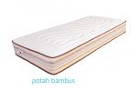 Potah Bambus Antistres 41% Viskóza, 32% Polyester, 26,8 Palyamid, 0,2% Karbon.
